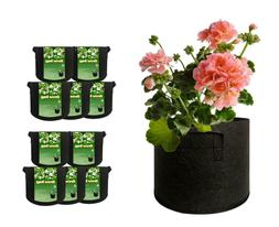 10 Pack Plant Grow Bags 3/5 Gallon Thickened Aeration Nonwov
