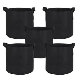 10-Pack Round Fabric Aeration Plant Pots Grow Bags 1 2 3 5 7