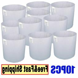 10X Grow Bags Fabric Pots Root Pouch With Handles Planting C