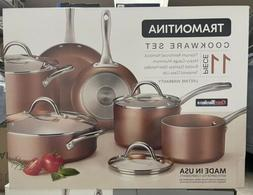 Tramontina 11-Piece Nonstick Cookware Set Assorted Colors Po