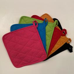 12 Pack Pot Holders Cotton Made Machine Washable Heat Resist