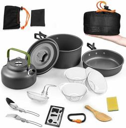 14Pieces Camping Cookware Sets Outdoor Cooking Portable Pots