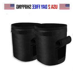 2 Pack Grow Bags Fabric Pots Root Pouch w/ Handles Planting