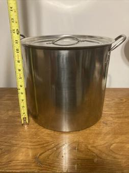 20 Qt Stainless Steel Stock Pot Large Kitchen Soup Big Cooki