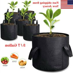 3/7 Gallon Grow Bags Aeration Fabric Plant Pots Container He