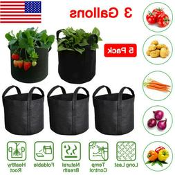 3 Gallon Growing Bags Felt Pots Root Pouch with Handles Plan