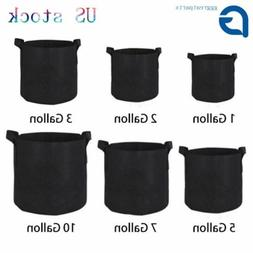 5 10 20 Pack Fabric Grow Pots Aeration Plant Planter Bags Ro