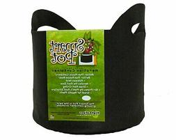 Smart Pots 5-Gallon Soft-Sided Container, Black with Cut Han