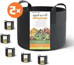 HONEST OUTFITTERS 5-Pack 3 Gallon smart Grow Bags for Potato