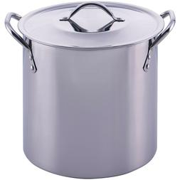 8-Quart Stainless Steel Stock Pot Lid Cooking Kitchen Soup S