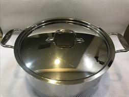 All-Clad 6+ qt. Stock Pot With Lid  ~ USA ~ Stainless Steel