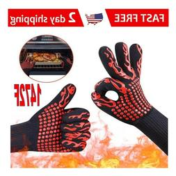 BBQ Grill Gloves Barbecue Silicone Heat Resistant Mitts Smok
