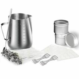 Candle Making Kits Pouring Pot Wicks Stickers DIY Crafting T