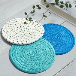 Cooking Lovers Gift Kitchen Pot Holders Set Cotton Trivet Ma