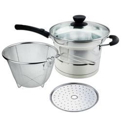 Cookware Set 3.5 Quart Stainless Steel Steaming Pot w/ Noold