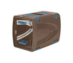 Deluxe Wire & Resin Pet Carrier w Food & Water Tray & Sto