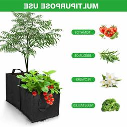 DI- 1PC Square Grow Bags Thick Fabric Flower Planting Pots w