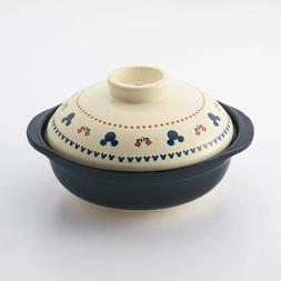 Earthenware Pot For 2-3 people 2000ml Made in Japan Disney M