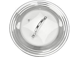 """Elegant Stainless Steel and Glass Universal Lid, Fits All 7"""""""