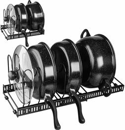 Expandable Pot and Pan Organizer Lid Holder Kitchen Cabinet
