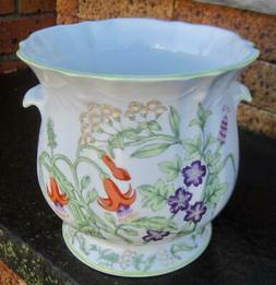 Tiffany Collection by Sigma Floral Cache Pot or Utensil Hold