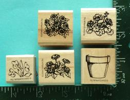 FLOWERS and POT Rubber Stamps by STAMPIN UP