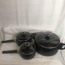 Pampered Chef Generation II Cookware  3 pots/pans & lids - R