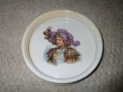 Germany childs bowl girl outfit large purple hat feather ruf