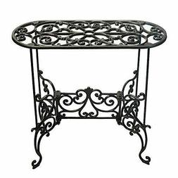 Sungmor Heavy Duty Cast Iron Potted Plant Stand Garden Table