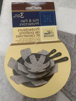 HOME COLLECTION POT & Pan Protectors 3 Pack Kitchen Gadgets