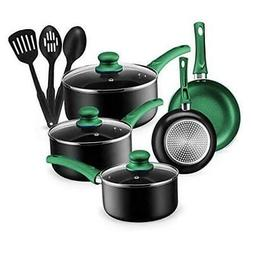 Kitchen Cookware Set, 11 Piece Pots and Pans Set for Cooking