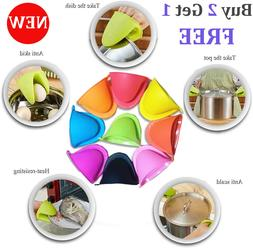 Mini Mitts Silicone Heat Resistant Cooking Pinch Mitt Pothol