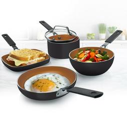 Gotham Steel Mini Personal Sized 5 Piece Nonstick Stackable