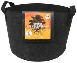 New Gro Pro Essential Round Fabric Pot with Handles, 3 Gallo