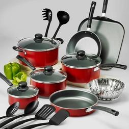 Nonstick Tramontina 9-PC - 18-Piece Pots And Pans Cookware S
