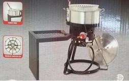 Outdoor 10QT Propane Fish Fryer / Chicken Wing Fryer with St