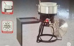 Outdoor 10QT Propane Fish Fryer / Turkey Fryer with Stand An