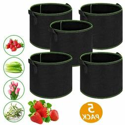 Outdoor Planting Grow Bags Non-woven Plant Pots Container wi