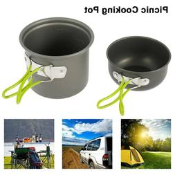 Portable Camping Pot Cooking Utensils Picnic Hiking Cookware