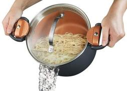 Gotham Steel Pasta Pot with Patented Built in Strainer with