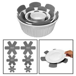 Evelots Pot & Pan Protectors Divider Pads, Assorted Sizes, G