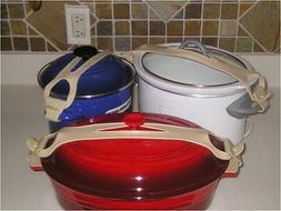 Silicone Bands For Crock Pot, Pots, Pan Lids Two Universal K