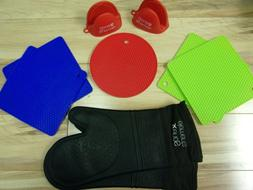 Xenos Elements Silicone Oven Mitts, Pinch Mitts and Pot Hold