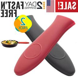 Potholder Cast Iron Skillet Handle Cover Silicone Hot Handle