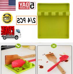 Silicone Utensil Rest  Heat-Resistant Spoon Holder for Stove