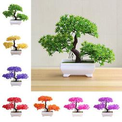 Simulation Pine Fake Potted Bonsai Tree Artificial Plant Off
