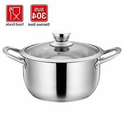 BOMA Stainless Steel 2-Piece 5-Quart Stock Pot - Tempered Gl