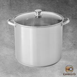 Stock Pot Stainless Steel 20 Qt Durable Cooking Dishwasher S