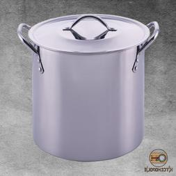 Stock Pot Stainless Steel Construction 8 Qt Durable Cooking