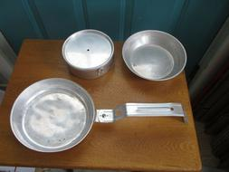Vintage Aluminum Soling Made in Japan Camping Pan and Small